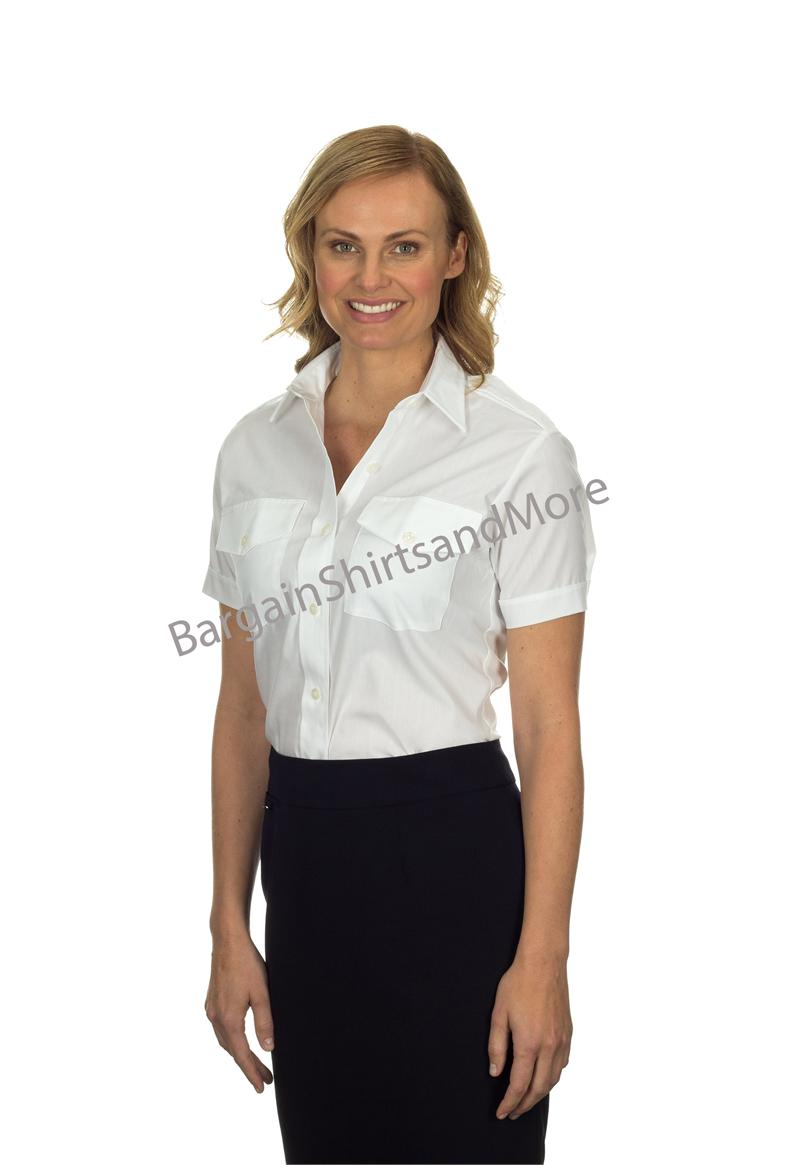 Pilot Shirts Womens Ladies Van Heusen The Aviator Short