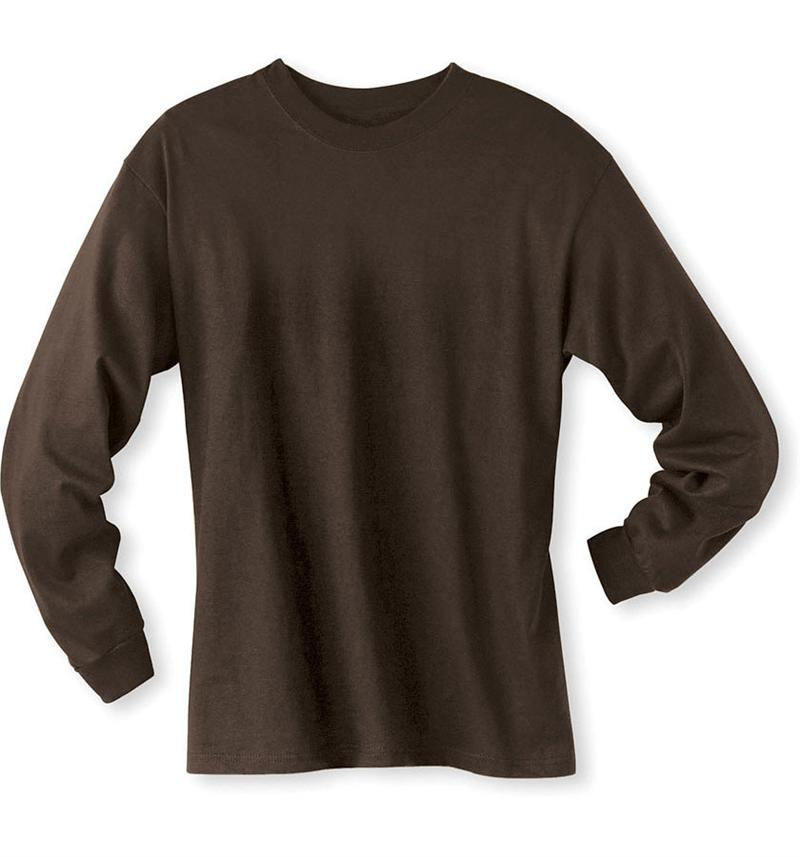 Dark Brown Long Sleeve Shirt