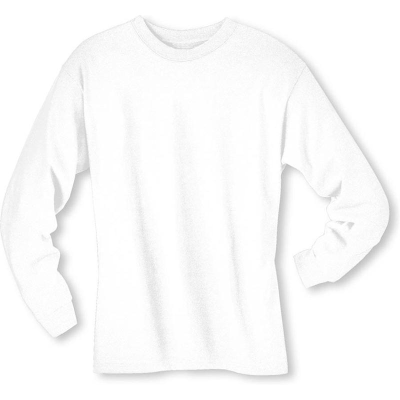 White Cotton Long Sleeve T Shirt | Artee Shirt