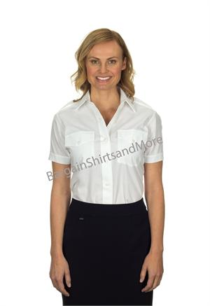 Ladies Womens The Aviator Short Sleeve Pilot Uniform Shirts