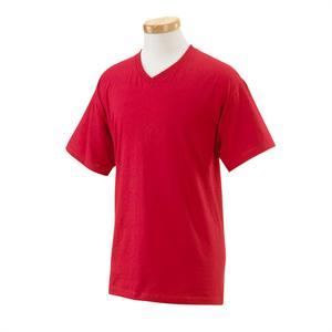 True Red - Fruit Of The Loom 39VR HD V-Neck Tee Shirts