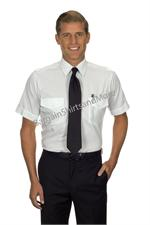 White - Tall Pilot Shirts Van Heusen The Aviator TALL Pilot Uniform Shirts