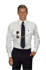 Men's Pilot LONG SLEEVE Pilot Shirts With Eyelets for name badge